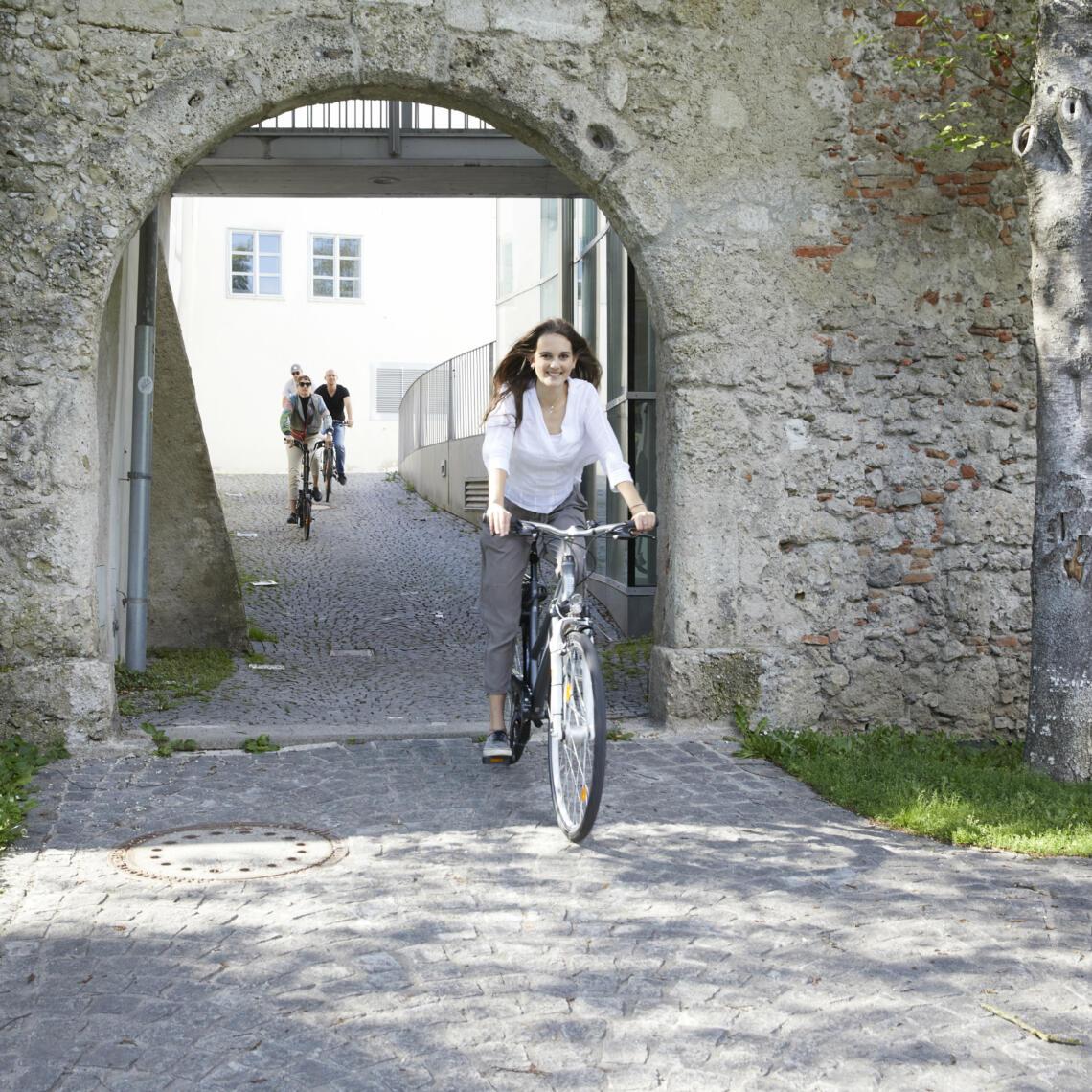 Mit dem Fahrrad durch die Welser Altstadt