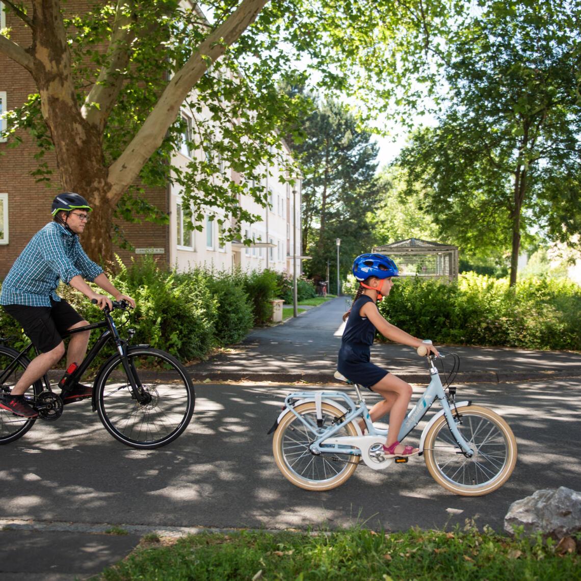 Schulweg mit dem Fahrrad üben