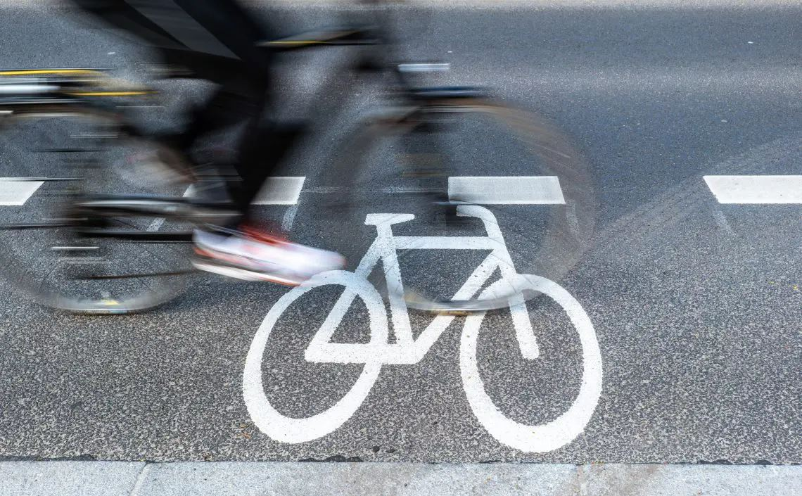 Person auf Fahrrad
